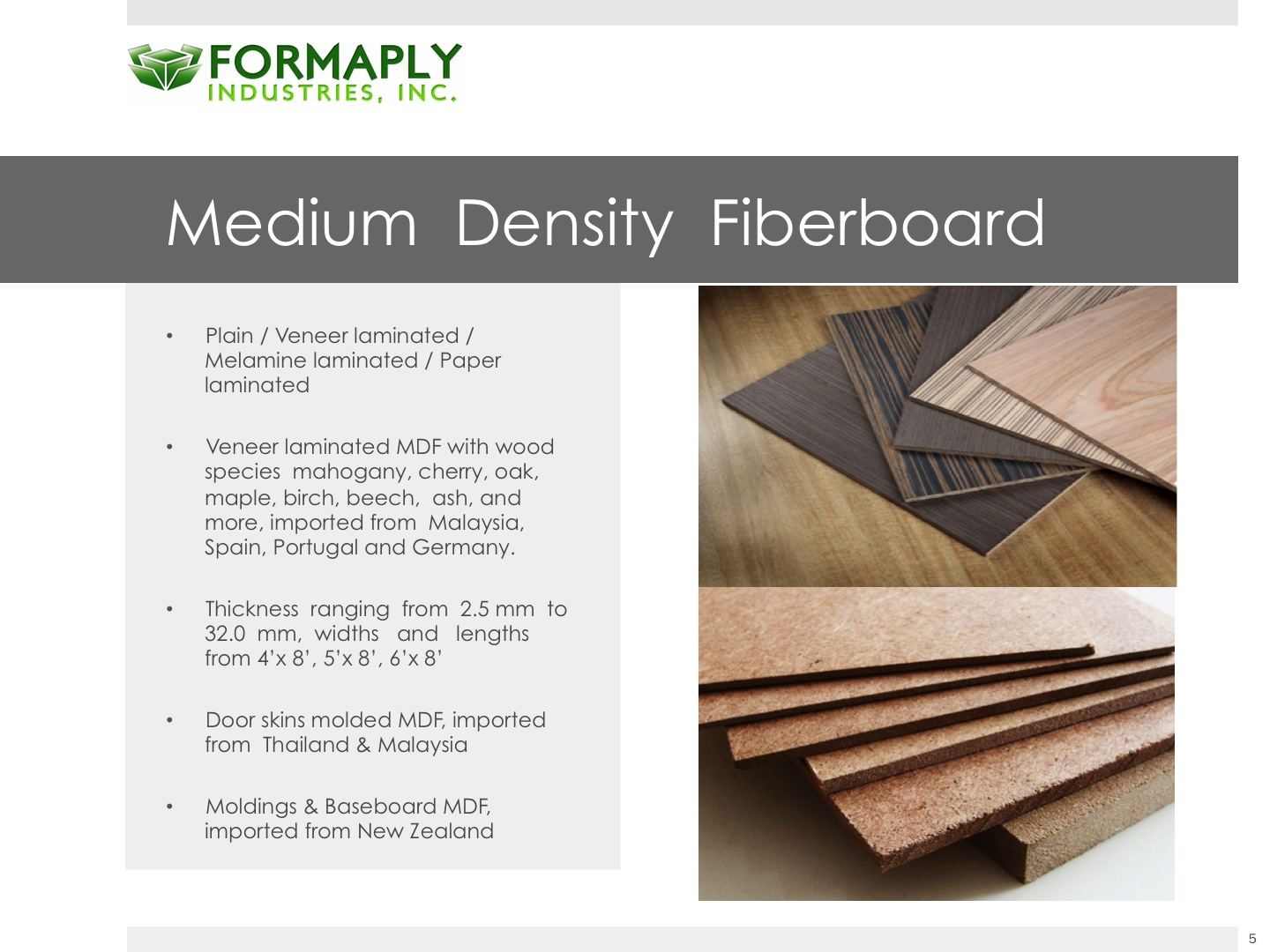 Wood products formaply